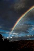 Rainbow and Overcast Sky