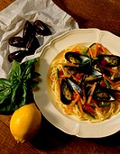 Seafood Pasta with Mussels
