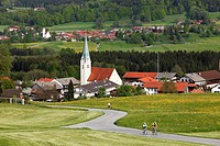 Villages of Toerwang and Grainbach, municipality of Samerberg, Chiemgau region, Chiemgau Alps, Upper Bavaria, Bavaria, Germany, Europe, PublicGround