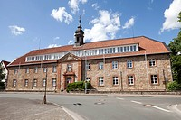 Former Franciscan Monastery, today's adult education centre, Volkshochschule, Korbach, Waldeck-Frankenberg district, Hesse, Germany, Europe, PublicGro...
