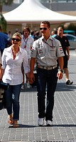 Michael Schumacher GER, Mercedes GP Petronas F1 Team, MGP W02 and his wife Corinna Schumacher GER, F1,Abu Dhabi Grand Prix, United Arab Emirates,Abu D...