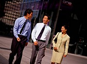 Businesspeople Walking Together