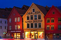 Tyske Brygge, Hanseviertel, Bergen, Hordaland, Norwegen, Skandinavien, Nordeuropa /Tyske Brygge, Hanseatic Quater, Bergen, Hordaland, Norway, Scandina...