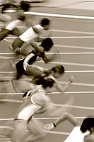 Female sprinters