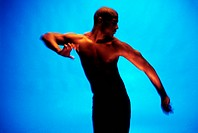 Barechested Man Performing Modern Dance