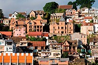 Architecture on Eastern hill and Analakely, Antananarivo, Madagascar