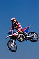 Motocross Racer Jumping