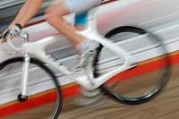Bicycle Racer On Track, Blurred Motion