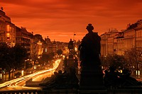 WENCESLAS SQUARE PRAGUE CZECH REPUBLIC