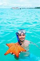Snorkel with starfish