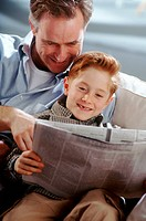 Newspaper with dad