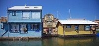House boats in Victoria´s inner harbour