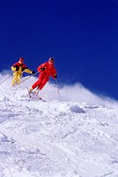 Downhill skiers _ Sun Valley