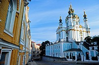 Saint Andrew's church in the old city, Kiev, Ukraine