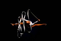 Rhythmic Gymnast with Ribbon