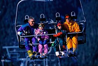 Family Riding Ski Lift
