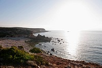 Portugal, Algarve, Sagres, View of Atlantic ocean at sunset