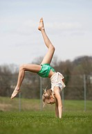 Austria, Teenage girl doing gymnastics