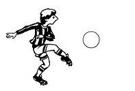 vector soccer player on white background