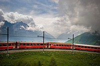Switzerland, Canton Grisons, Bernina express