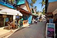 Thailand - Phi Phi Island, Phang Nga Bay, small street at the port