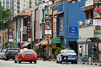 Shops on South Bridge Road, Chinatown, Singapore, Asia