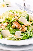 Caeser Salad with parmesan and chicken