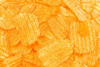 Detail of potato chips