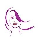 stylized portrait of beautiful young woman