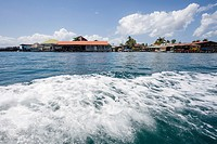View of Isla Colon from water taxi, Bocas del Toro, Panama