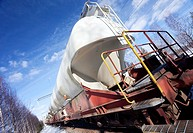 Train´s chemical transport tanks  Location Suonenjoki Finland Scandinavia Europe