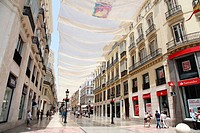 Popular shopping street Larios, Malaga, Andalucia, Spain