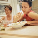Women Eating in a Diner