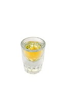 Shot glass full of liquor, includes clipping path
