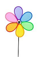 Colorful Pinwheel, clipping path included