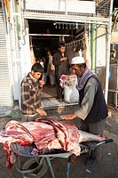 butcher in Kabul, afganistan