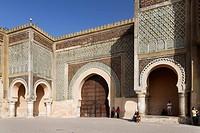 Bab el-Mansour, entrance, gate, Meknes, Meknès-Tafilalet, Morocco, North Africa, Maghreb, Africa
