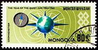 MONGOLIA _ CIRCA 1965: stamp printed in Mongolia