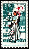 GDR _ CIRCA 1960s: stamp printed in GDR East Germany