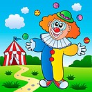 Clown theme picture 7 _ picture illustration.