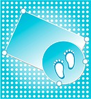 baby boy announcement card blue. vector illustration