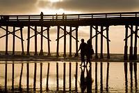 Pier at Newport Beach, Orange County, California, USA