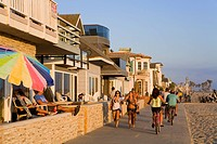 USA, California, Orange County, Newport Beach, Oceanfront homes