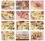Rosemary potatoes being prepared