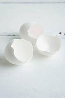 Clean, white eggshells