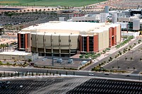 Aerial view of a sports arena, Jobing.Com Arena, Glendale, Phoenix, Arizona, USA