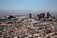 Aerial view of a cityscape, Phoenix, Arizona, USA
