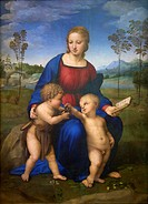 Madonna of the goldfinch, Virgin and child with John the Baptist, 1507 , by Raphael, Uffizi Gallery, Florence, Tuscany, Italy, Europe