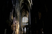 Germany, Cologne, Cathedral Gothic, Interior, Looking East