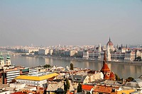 Smog over the Hungarian Parliament